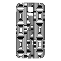 Line Hole Plaid Pattern Samsung Galaxy S5 Back Case (White)