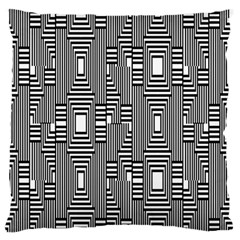 Line Hole Plaid Pattern Large Flano Cushion Case (One Side)