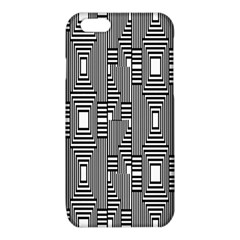 Line Hole Plaid Pattern iPhone 6/6S TPU Case