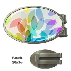 Leaf Rainbow Color Money Clips (Oval)