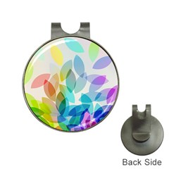 Leaf Rainbow Color Hat Clips with Golf Markers