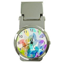 Leaf Rainbow Color Money Clip Watches