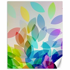 Leaf Rainbow Color Canvas 16  x 20