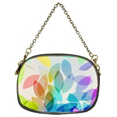 Leaf Rainbow Color Chain Purses (Two Sides)