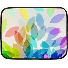 Leaf Rainbow Color Fleece Blanket (Mini)