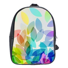 Leaf Rainbow Color School Bags(Large)
