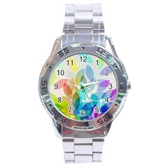 Leaf Rainbow Color Stainless Steel Analogue Watch