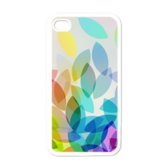 Leaf Rainbow Color Apple iPhone 4 Case (White)