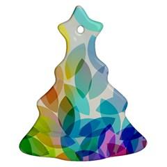 Leaf Rainbow Color Ornament (Christmas Tree)