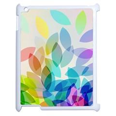 Leaf Rainbow Color Apple iPad 2 Case (White)