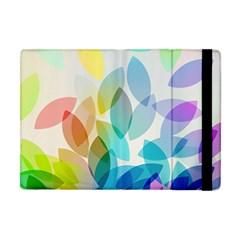 Leaf Rainbow Color Apple iPad Mini Flip Case