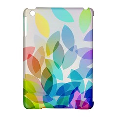 Leaf Rainbow Color Apple iPad Mini Hardshell Case (Compatible with Smart Cover)