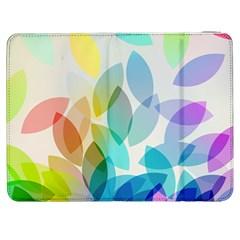 Leaf Rainbow Color Samsung Galaxy Tab 7  P1000 Flip Case