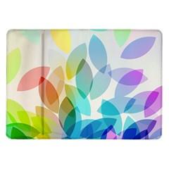 Leaf Rainbow Color Samsung Galaxy Tab 10.1  P7500 Flip Case