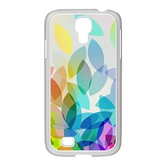 Leaf Rainbow Color Samsung GALAXY S4 I9500/ I9505 Case (White)