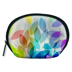 Leaf Rainbow Color Accessory Pouches (Medium)