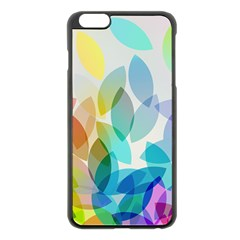 Leaf Rainbow Color Apple iPhone 6 Plus/6S Plus Black Enamel Case