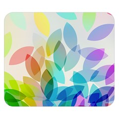 Leaf Rainbow Color Double Sided Flano Blanket (Small)