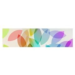 Leaf Rainbow Color Satin Scarf (Oblong)
