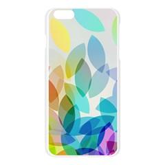 Leaf Rainbow Color Apple Seamless iPhone 6 Plus/6S Plus Case (Transparent)