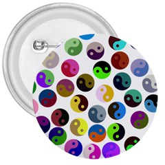 Ying Yang Seamless Color Cina 3  Buttons