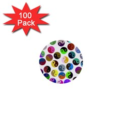 Ying Yang Seamless Color Cina 1  Mini Buttons (100 pack)