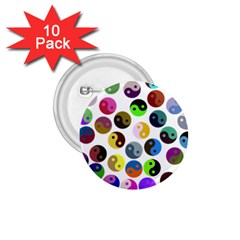 Ying Yang Seamless Color Cina 1.75  Buttons (10 pack)