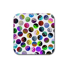 Ying Yang Seamless Color Cina Rubber Coaster (Square)