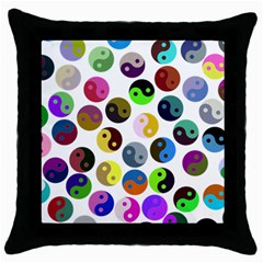 Ying Yang Seamless Color Cina Throw Pillow Case (Black)