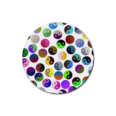 Ying Yang Seamless Color Cina Rubber Round Coaster (4 pack)