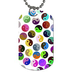 Ying Yang Seamless Color Cina Dog Tag (One Side)