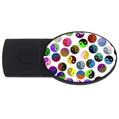 Ying Yang Seamless Color Cina USB Flash Drive Oval (2 GB)