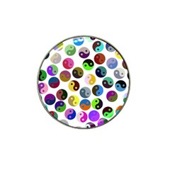 Ying Yang Seamless Color Cina Hat Clip Ball Marker (4 pack)