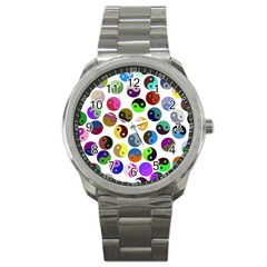 Ying Yang Seamless Color Cina Sport Metal Watch