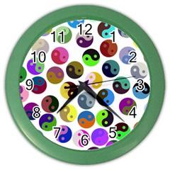 Ying Yang Seamless Color Cina Color Wall Clocks