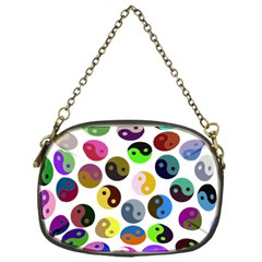 Ying Yang Seamless Color Cina Chain Purses (One Side)