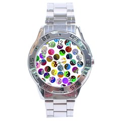 Ying Yang Seamless Color Cina Stainless Steel Analogue Watch