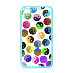 Ying Yang Seamless Color Cina Apple iPhone 4 Case (Color)