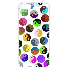 Ying Yang Seamless Color Cina Apple iPhone 5 Seamless Case (White)