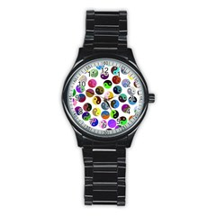 Ying Yang Seamless Color Cina Stainless Steel Round Watch