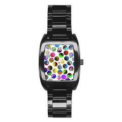 Ying Yang Seamless Color Cina Stainless Steel Barrel Watch