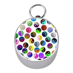 Ying Yang Seamless Color Cina Mini Silver Compasses