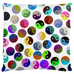 Ying Yang Seamless Color Cina Standard Flano Cushion Case (Two Sides)