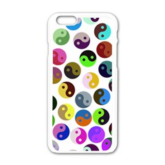 Ying Yang Seamless Color Cina Apple iPhone 6/6S White Enamel Case