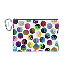 Ying Yang Seamless Color Cina Canvas Cosmetic Bag (M)