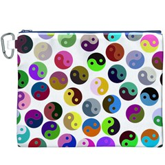 Ying Yang Seamless Color Cina Canvas Cosmetic Bag (XXXL)