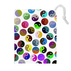 Ying Yang Seamless Color Cina Drawstring Pouches (Extra Large)