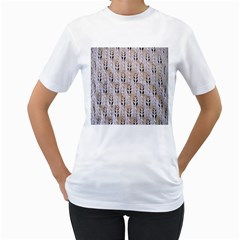Jared Flood s Wool Cotton Women s T Shirt (white) (two Sided)