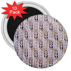Jared Flood s Wool Cotton 3  Magnets (10 pack)