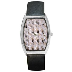 Jared Flood s Wool Cotton Barrel Style Metal Watch